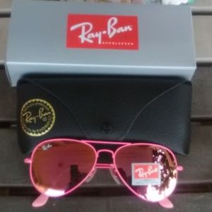 Brand New All Pink RayBan Aviators 58mm Never Worn